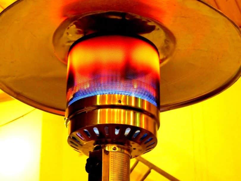 Brenner und Heizelement von einem Heizpilz für Gas