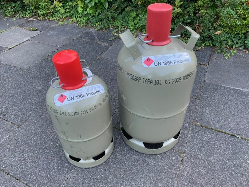 5 kg 11kg Gasflaschen grau