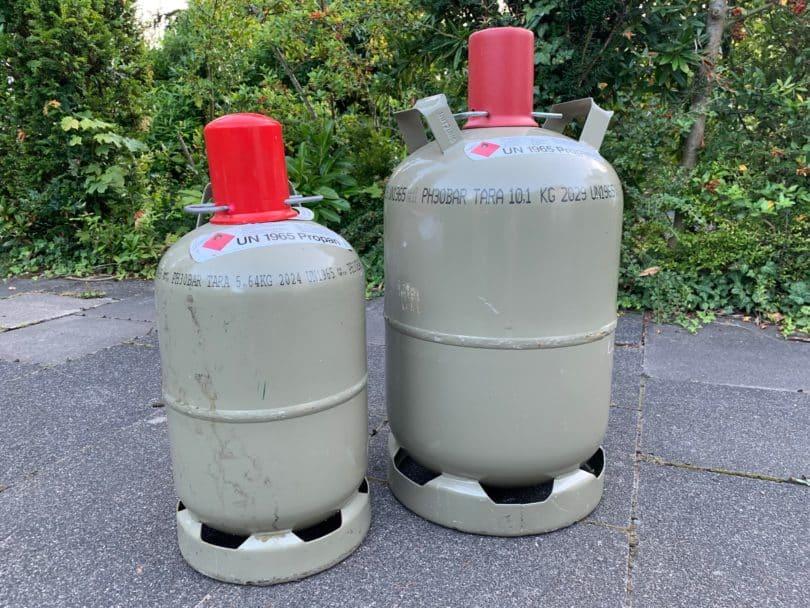 5 kg 11 kg Gasflaschen grau