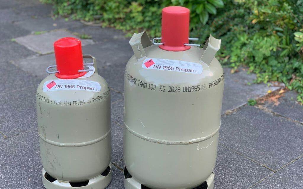 5 kg 11 kg Gasflaschen