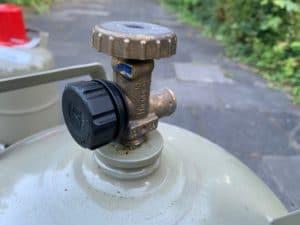 Sicherheitsventil einer Gasflasche