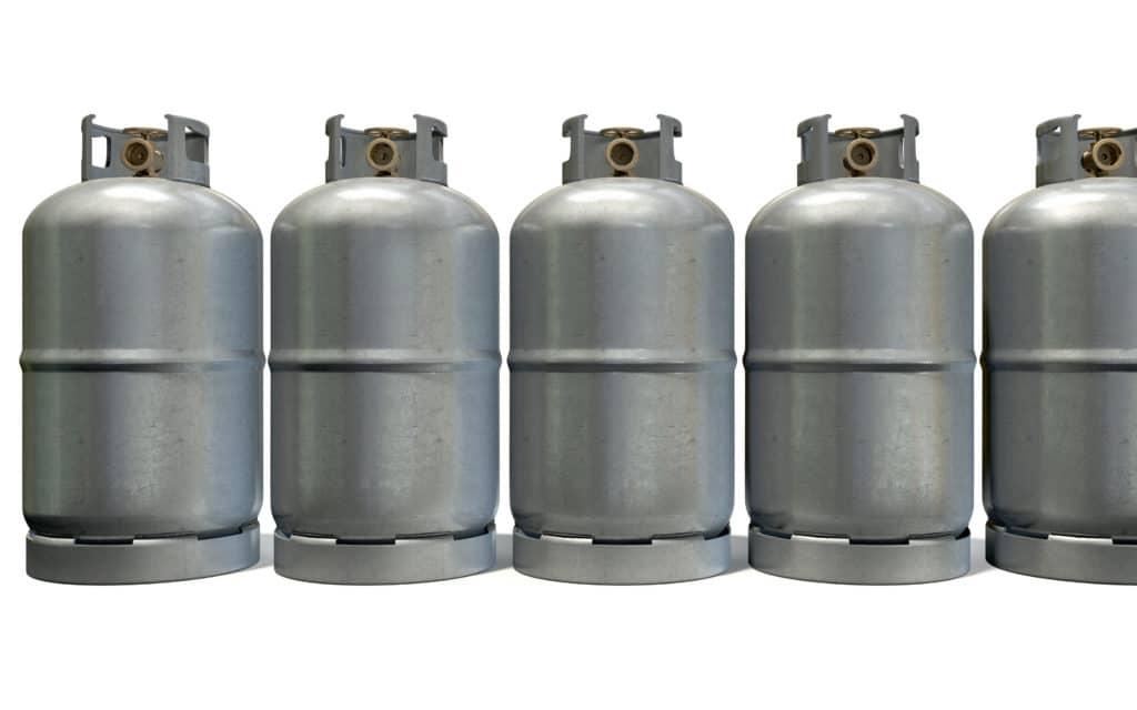 Aluminium Gasflaschen 11 kg