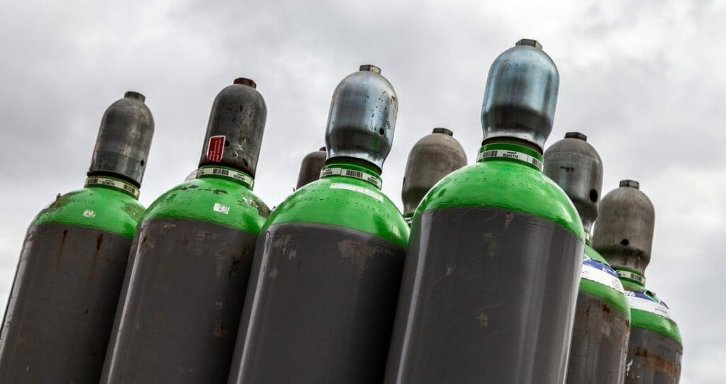 Argon Gasflaschen