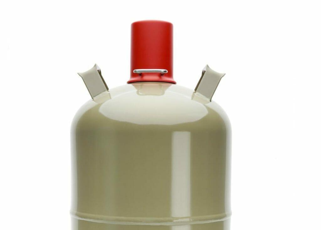 Graue Gasflasche