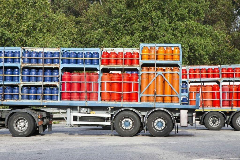 Gasflaschen Transport
