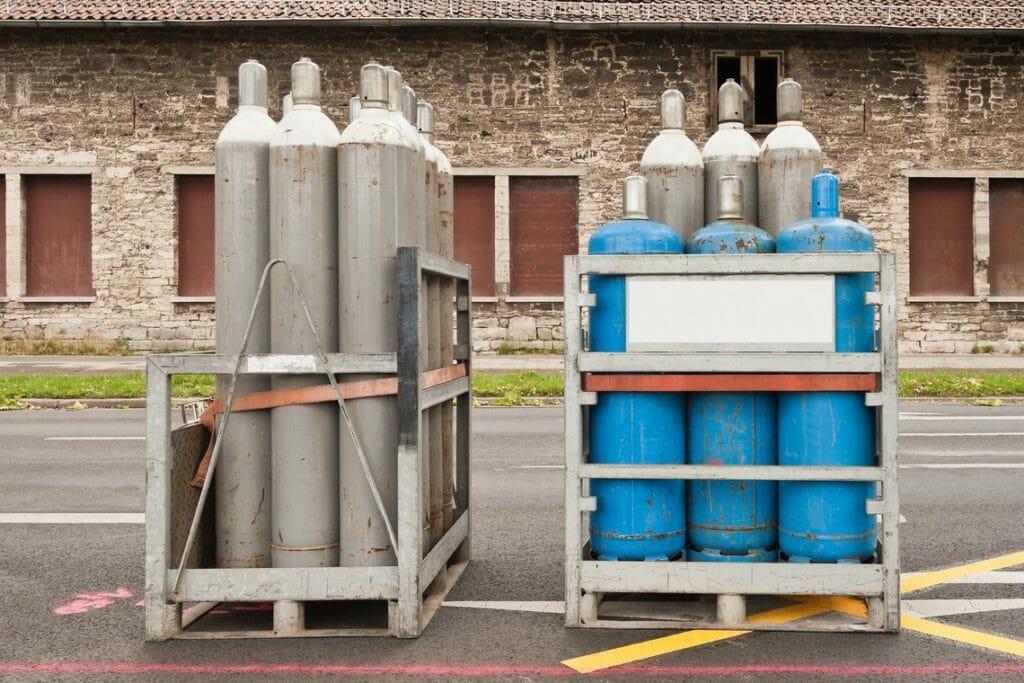 Sauerstoffgasflaschen
