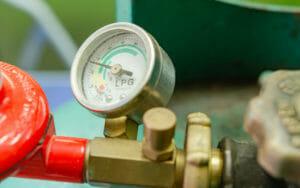 Manometer am Gasflaschen-Druckregler